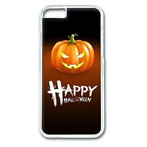 iCustomonline Halloween Pumpkin Custom Transparent Plastic Hard Back Cover for iPhone 6( 4.7 inch)