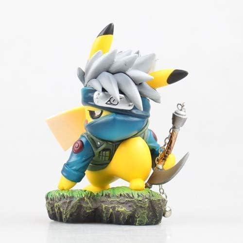 Pokemon Cute Pikachu Cospaly Naruto Hatake Kakashi PVC Figure New In Box