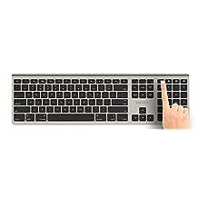 Kanex MultiSync Aluminum Bluetooth Full Size Keyboard w/ numeric keypad-compatible w/ iPhone/iPad/MacBook/Mac