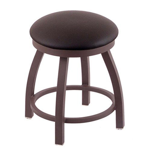 Holland Bar Stool Co. 802 Misha Vanity Stool with Bronze Finish and Swivel Seat, 18