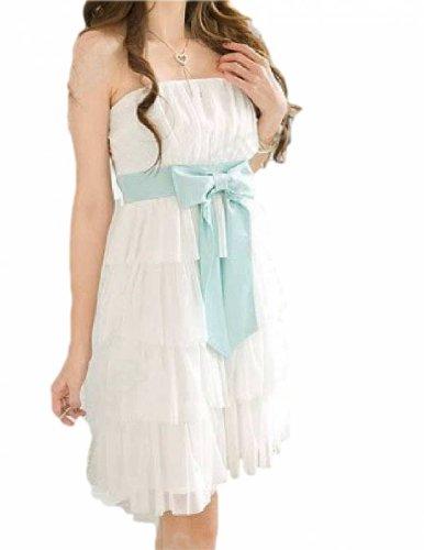 8cce41874 Reve-Line - Vestido - Noche - Sin mangas - para niña blanco 12 años ...