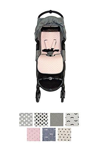 Fundas BCN - F160/4597 - Colchoneta Para Silla de Paseo BabyJogger Citymini Zip - Little Fun Peach
