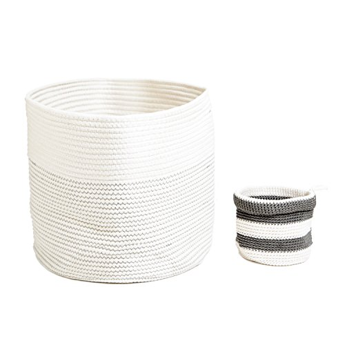 Round Woven Cotton Rope Basket: Extra Large Baskets for Nursery Storage and More