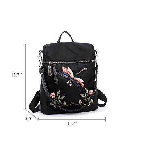à Élégant d'école femme Fanshu vintage Noir dos Sac Imperméable sac q5wqC8cI