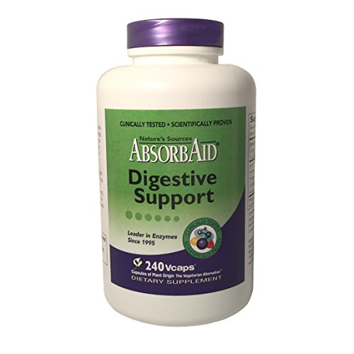 Cheap AbsorbAid Aid for Digestion and Stomach Distress Veggie Capsules, 240 Count