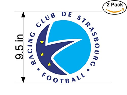 fan products of Strasbourg France Soccer Football Club FC 2 Stickers Car Bumper Window Sticker Decal Huge 9.5 inches
