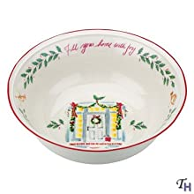 """Lenox Holiday Fill Your Home with Joy Bowl New 10"""""""