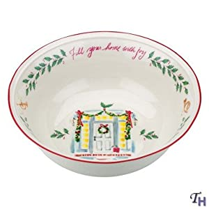 Lenox Holiday Fill Your Home with Joy Bowl New 10""