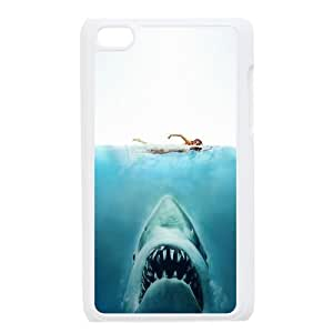 Cool Shark Swimming Girl Blue Custom Design Apple Ipod Touch 4 Hard Case Cover phone Cases Covers