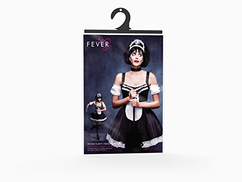 31212 Sleeves the Costume French and Fever Headpiece Smiffy's Size Adult L Dress Around Women's Flirty Maid World 7RU74qfw