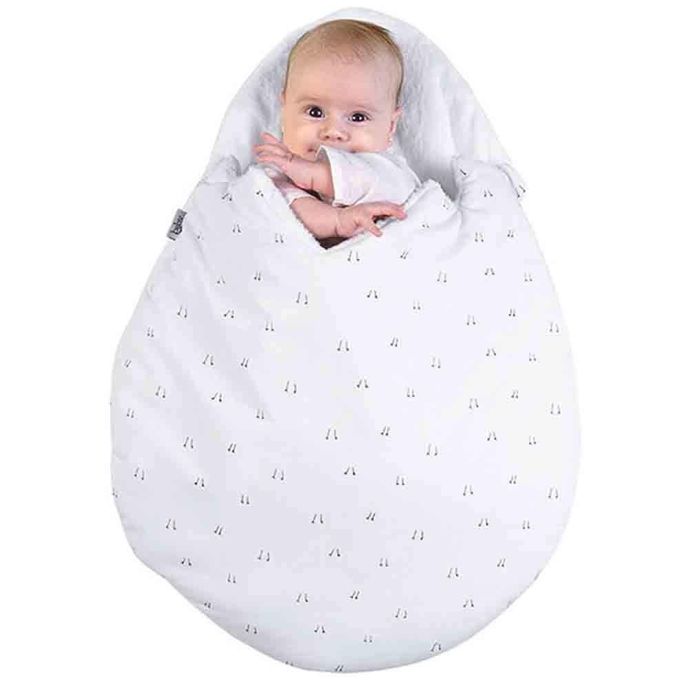 HBK Newborn Baby Cartoon Egg Shape Sleeping Bag Winter Stroller Bed Swaddle Blanket Wrap Bedding Sleep Bag Thick Infant Warm Swaddle