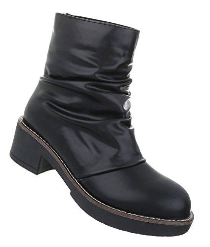 Damen Schuhe Stiefeletten Boots Schwarz