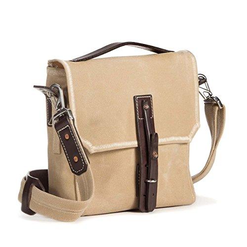 c4e81c0291a63 Saddleback Leather Co. Canvas Indiana Gear Bag - Scottish Waxed Canvas Satchel  Bag with 100