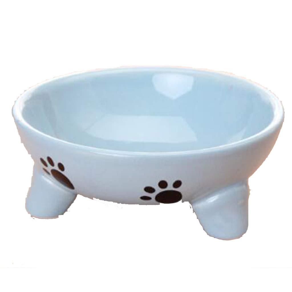 Pet Bowl Pet Supplies Ceramic Bowl Pet Food Bowl Three-Legged Cat Dog Bowl Universal