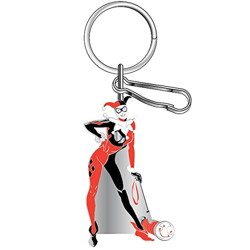 DC+Comics Products : Harley Quinn DC Comics Batman Auto Car Truck SUV Enamel Metal Key Chain with Ring and Clip