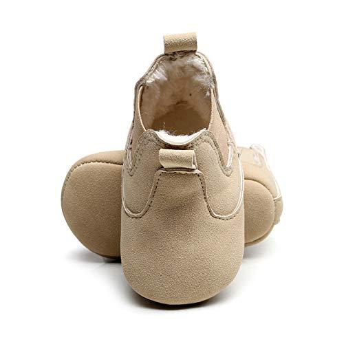 YanHoo Niños Cuna Botas de Invierno Prewalker Warm Shoes Costura de bebé más Botas de algodón elásticas para niños Botas Cortas elásticas para niños Botas ...