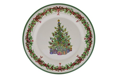 Christopher Radko Traditions Holiday Celebrations Salad Plate Christmas Tree
