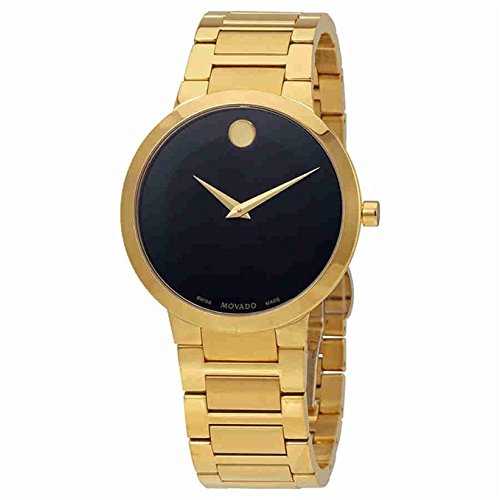 Men's Movado Modern Yellow Gold Bracelet Watch 0607121 (Bracelet Movado Gold)