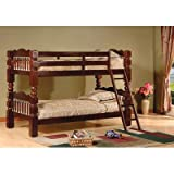 Twin over Twin Bunk Bed Finish: Esprit Cherry For Sale