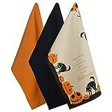 DII Halloween DISHTOWELS, Juego de 3, Jack-o-Lantern Halloween, Juego de 3, 1, 3