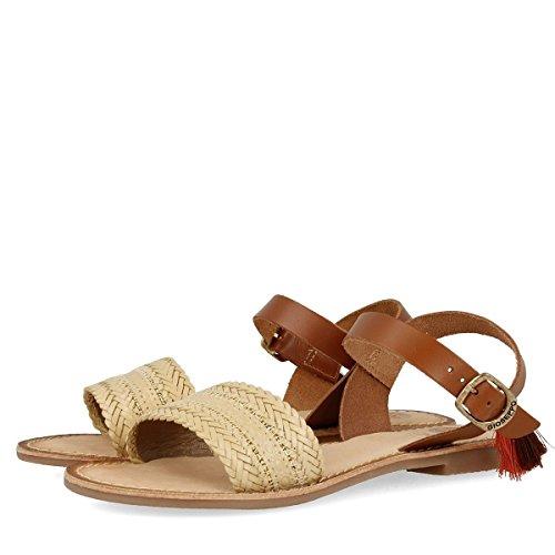 Gioseppo Mujer Addison 39830-11 Beige zapatos con correa