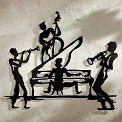 Melodies Trumpet - Wall Sticker Room Decal Music Band Saxophone Drums Trumpet Melody Jazz bo2544