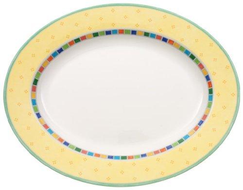Twist Alea Limone Oval Platter by Villeroy & Boch - Premium Porcelain - Dishwasher and Microwave Safe - 13.25 Inches Alea Dishwasher Safe Plates