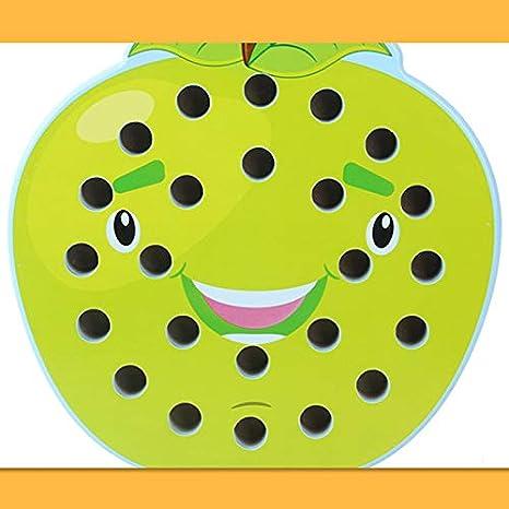 Holz Brettspiel f/ür Lernen Schach Baby Lernen Puzzle-Spielzeug Kinder Memory Match Schachspiel Apple iSunday Spa/ß Familie Schachspiel f/ür Kinder /& Erwachsene
