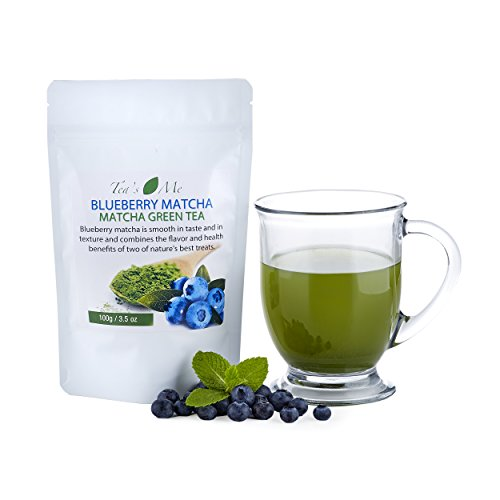 Blueberry Matcha Green Tea Powder Organic Japanese Culinary Matcha Tea w/ Natural Blueberry Extract- Great for Tea, Smoothies or Latte...