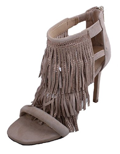 Boho-Chic Vacation & Fall Looks - Standard & Plus Size Styless - Steve Madden Women's Fringlyr Dress Sandal, Blush Print, 8 M US