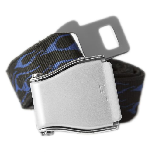 Belt Seat Flames Buckle - Blue Flames Airplane Seatbelt Buckle Fashion Belt