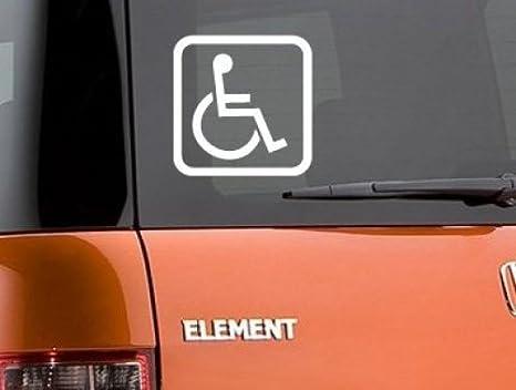 Amazon.com: Handicap Disabled Wheelchair Symbol Vinyl Sticker Decal-White-4 Inch
