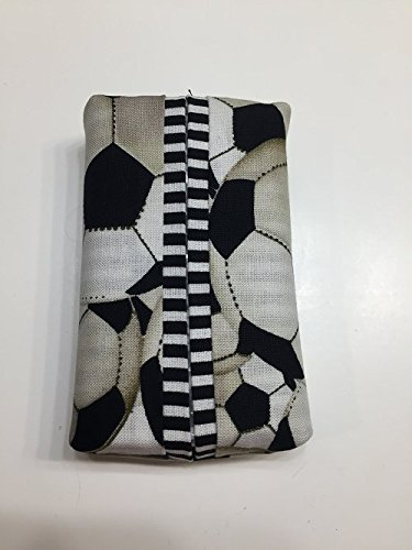 Qty 1 - SOCCER Tissue Cover-Trendy print,Personal size tissue cover-IN STOCK, ready to ship, purse size, pocket size, travel size