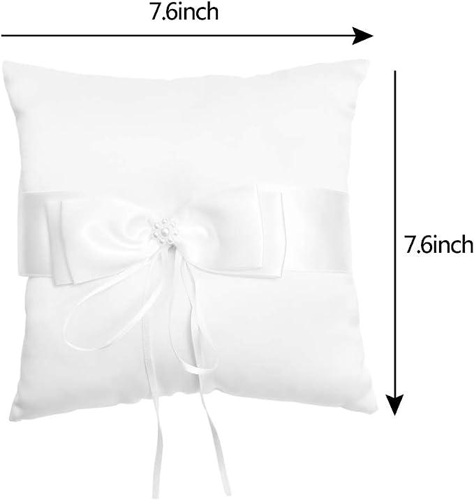 Wedding  Ring Bearer Pillow in White  Handmade RAPSODY