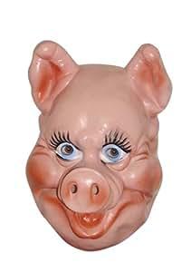 Cesar - Careta para disfraz de cerdo (cualquier edad)