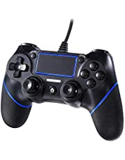 Etpark PS4 Controller,USB Wired Gamepad Controller, Professional Joypad Compatible with Playstation 4/PS4 Slim/PS4 Pro, Black Wired