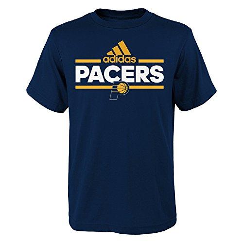 NBA Youth Boys 8-20 Indiana Pacers Mini Dassler Short Sleeve Tee, Large , Dark Navy