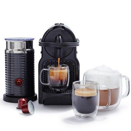 Nespresso Inissia by De'Longhi Espresso Machine with Aeroccino3 Frother EN80BAE , Black