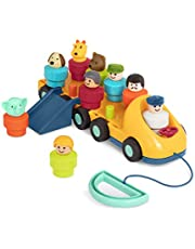 Battat – Toy Bus for Toddlers – Bus Toy with Moving Parts and 9 Toy Characters – Developmental Toy with Accessories for Babies, Kids – Spinning Bus – 18 months +