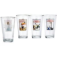 Luminarc Guinness 16-Ounce Surtido Pub Gafas Pack de 4