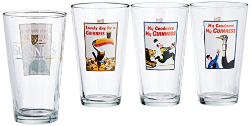- Luminarc Guinness 16-Ounce Assorted Pub Glasses Pack of 4