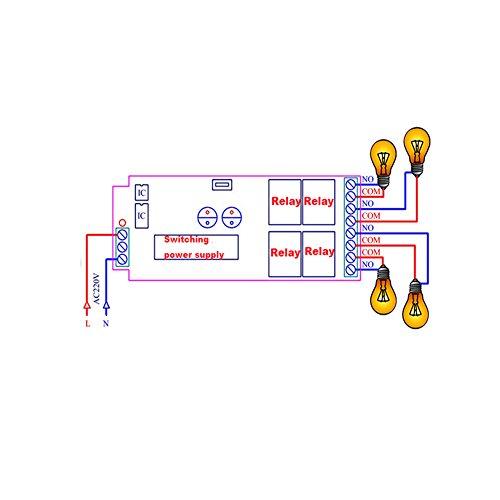 Lejin AC85v ~ 250V 110V 230V 4CH 4 Channel Radio Remote Control Wireless Remote Control Switch 220V Relay Output Radio RF Transmitter Radio System 433Mhz Receiver by Lejin (Image #6)
