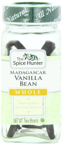 The Spice Hunter Vanilla Bean, Madagascar, Whole, 2 Bean Jar by Spice Hunter