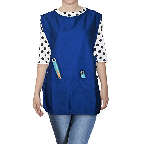 (Opromo Unisex Cobbler Apron with two front pockets, Art Smock Aprons Christmas gifts for Adult Women Men,19