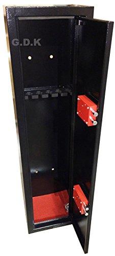 GDK 4 gun cabinet, deep for 2-4 scoped rifles, spacious 4-6 shotgun safe, 1300mm