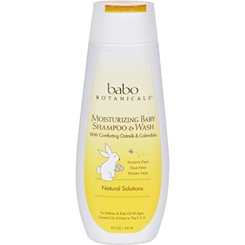 Babo Botanicals Moisturizing Baby Shampoo and Wash - Oatmilk Calendula - 8 fl oz