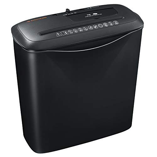 8-Sheet Strip Cut Home Paper Shredder,bonsaii CD and Credit Card Office Shredder Machine with Overheat and Overload…