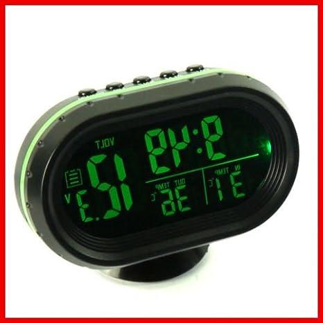 Coche Reloj luminoso Relojes y relojes, electrónica coche termómetro tiempo cuadro: Amazon.es: Hogar