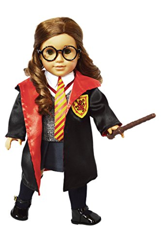 My Brittany's 10 Piece Hermione Granger Inspired School Uniform Includes Glasses for American Girl Dolls-18 Inch Doll Clothes for American Girl Dolls (A American Girl Doll Clothes)