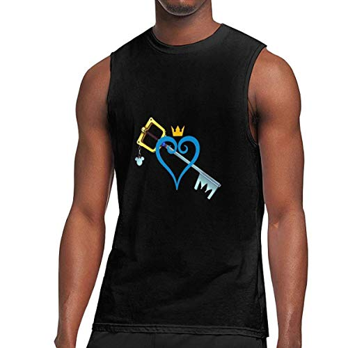 ZPanter Men's Sleeveless T Shirts, Heart and Sword Workout Tank Tops Gym Bodybuilding T-Shirts Black,Black,3X-Large